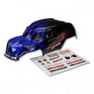 Carrosserie skully bleu + autocollants