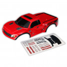 Carrosserie rouge peinte et decoree ford raptor