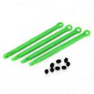 Biellettes de pincement avant/arriere moulees nylon vert