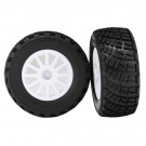 Roues montees collees bf goodrich blanches x2