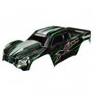 Carrosserie x-maxx verte peinte et colorée