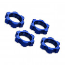 Ecrous de roues alu 17mm anodises bleu (4)