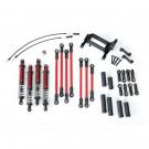 Kit complet bras/bielette long Rouges pour TRX-4 Traxxas