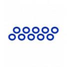 Rondelle 3x6x0.5mm Bleu (x10)