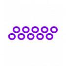 Rondelle 3x6x0.5mm Violet (x10)