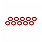 Rondelle 3x6x0.5mm Rouge (x10)