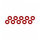 Rondelle 3x6x1mm Rouge (x10)