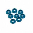 Rondelle Cuvette 3mm Bleu tete cyl (x8)
