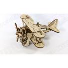 Puzzle mécanique bois Avion biplan