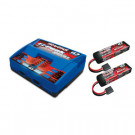 Pack chargeur 2972g + 2 x lipo 3s 5000mha 2872x