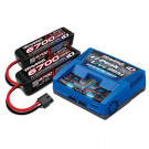 Pack chargeur Live 2973G + 2x Lipo 4S 6700MHA 2890X prise Traxxas