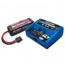 Pack chargeur Live 2971G + 1x Lipo 4S 5000MAH 2889X prise Traxxas